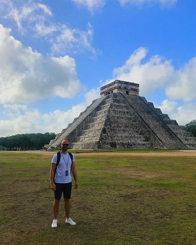 One the 7 wonders of the World, Chichen Itza.