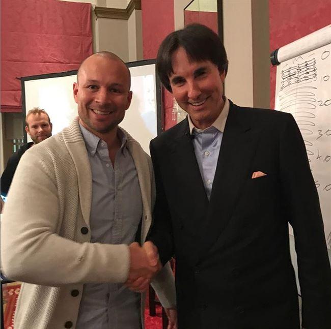 With Dr John Demartini.