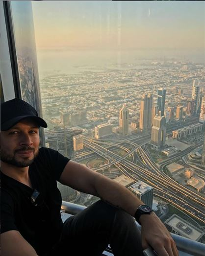 On top of the Burj Khalifa. The impossible is possible in Dubai.