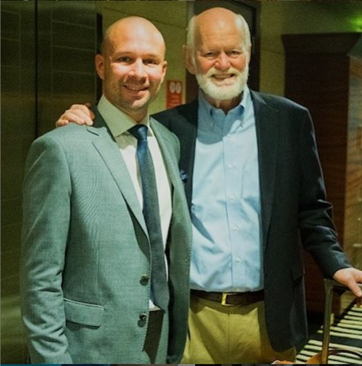 All smiles with Marshall Goldsmith