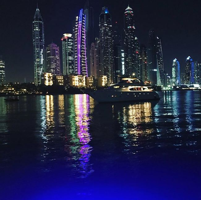 Picture I took from the back of the yacht, Dubai Marina - Nov 2017.